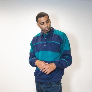 Striped Long-sleeve collar shirt